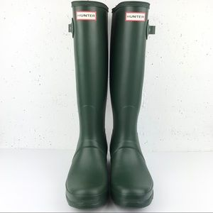 Hunter Original Tall Rain Boots Green Size 10
